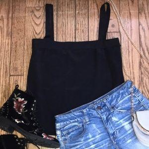 TANK-Ann Klein Black Thick Strap Light&Comfortable